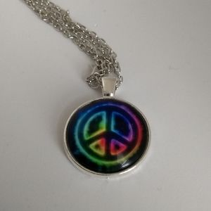 PEACE SIGN NECKLACE - Trippy Hippie Fashion Love